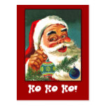 Classic Santa Claus Greeting Card to Customize Post Card
