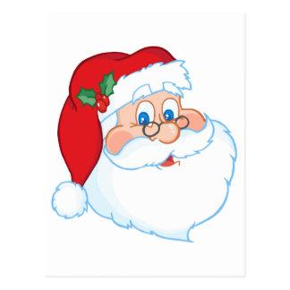 Classic Santa Claus Head Postcard