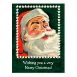Classic Santa Claus Illustration Card to Customize Postcard