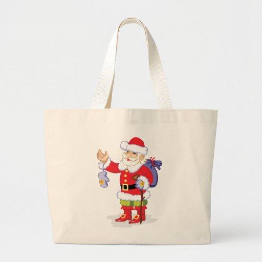 Classic Santa Claus Jumbo Tote Bag