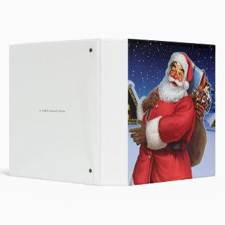 """Classic Santa"" Close Up Vinyl Binders"