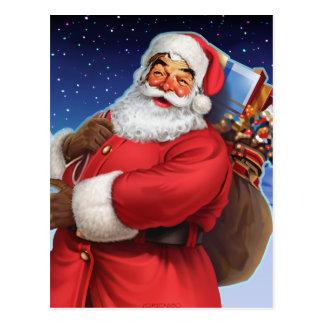 """""""Classic Santa"""" Close Up Postcard"""