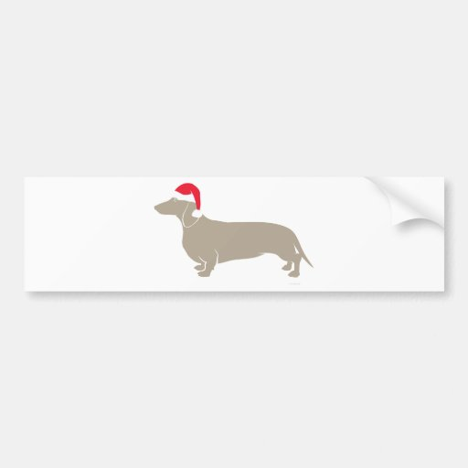 Classic Santa Doxie Dachshund Bumper Sticker