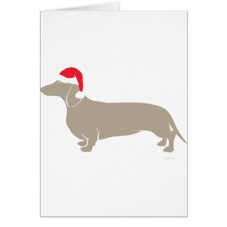 Classic Santa Doxie Dachshund Card