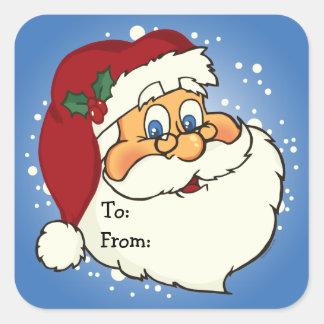 Classic Santa Gift Tag Sticker
