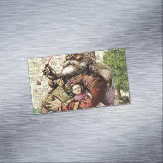 Classic Santa Illustration Business Card Magnet