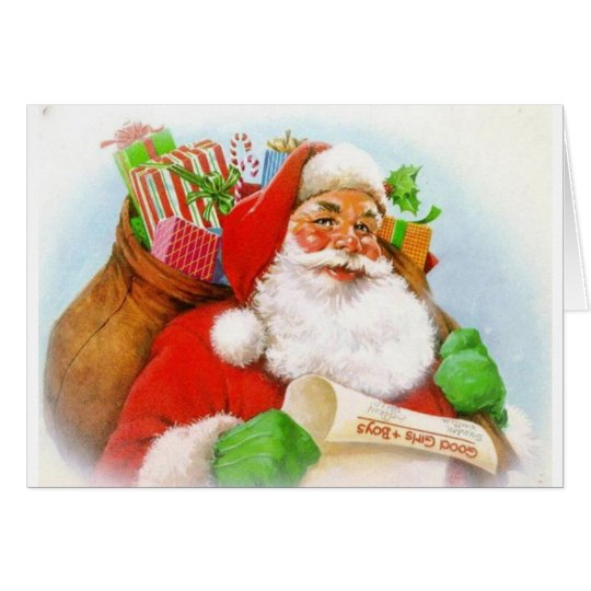 Classic Santa Picture Card