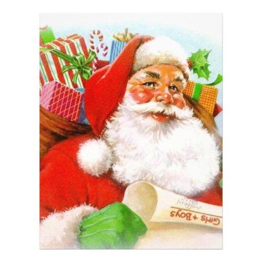 Classic Santa Picture Custom Letterhead