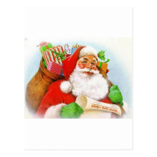 Classic Santa Picture Postcards