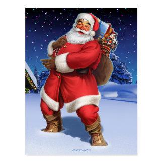 """Classic Santa"" Postcard"