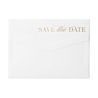 Classic save the date return address label
