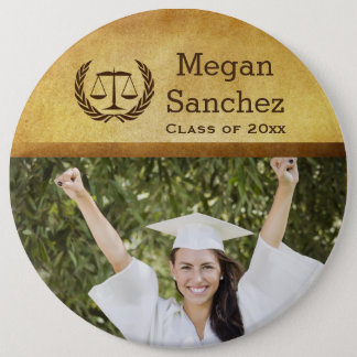 Classic Scales of Justice Law School Graduation Button