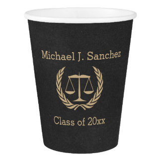 Classic Scales of Justice Law School Graduation Paper Cup