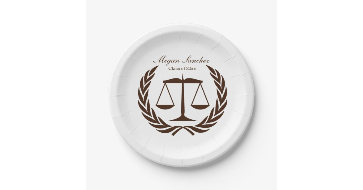 Classic Scales of Justice Law School Graduation Paper