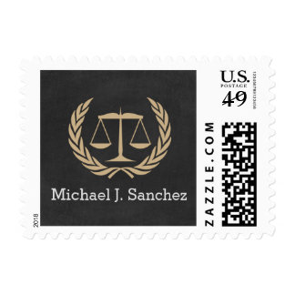 Classic Scales of Justice Law School Graduation Postage