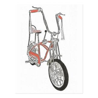 Classic Schwinn Orange Krate 60's Bike Bicycle Postcard