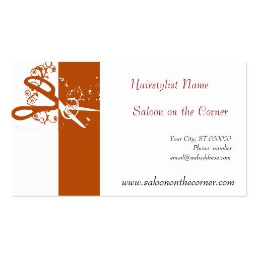 Classic scissors salon hair stylist hairdresser double for Hairdresser business card templates