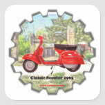 Classic_Scooter_1965 Calcomania Cuadrada Personalizada