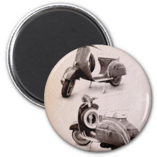 Classic Scooter 1969 2 Inch Round Magnet
