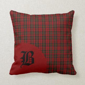 Classic Scottish Brodie Clan Tartan Plaid Monogram Throw Pillows
