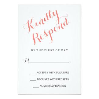 Classic Script   Elegant Wedding RSVP Card