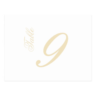 Classic Script Table Numbers (Cream / White) Postcard