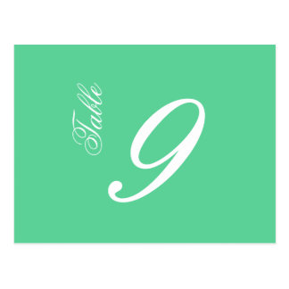 Classic Script Table Numbers (White / Mint) Postcard