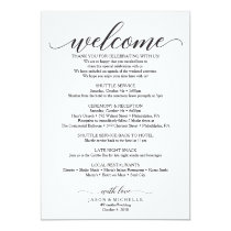 Classic Script Wedding Itinerary - Wedding Welcome Invitation