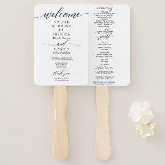 Simple Wedding Paddle Fans, Minimalist