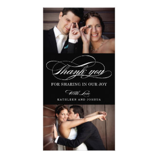Classic Script Wedding Thank You Photo Cards