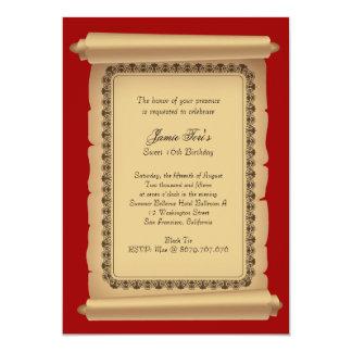 Classic Scroll Invitation
