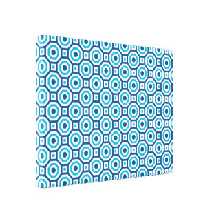 Classic+Scuba Blues Nested Octagon Wrapped Canvas