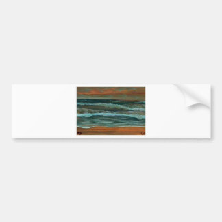 Classic Seascape Beach Decor Gifts Sea Waves Art Bumper Sticker