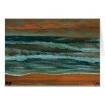 Classic Seascape Beach Decor Gifts Sea Waves Art Card