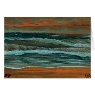 Classic Seascape Beach Decor Gifts Sea Waves Art Card