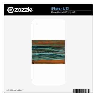 Classic Seascape Beach Decor Gifts Sea Waves Art iPhone 4S Skins