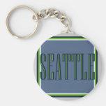 Classic Seattle Keychain
