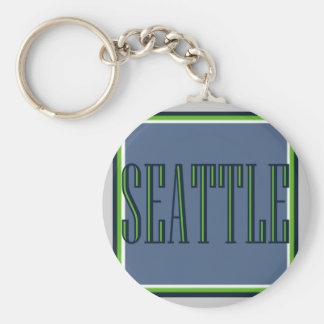 Classic Seattle Keychain