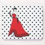 Classic Senorita in Red Mousepads