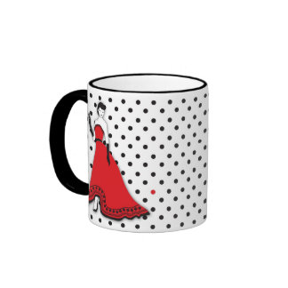 Classic Senorita in Red Ringer Mug