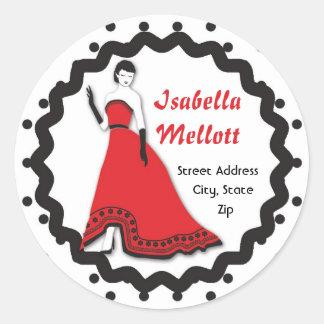 Classic Senorita in Red Classic Round Sticker