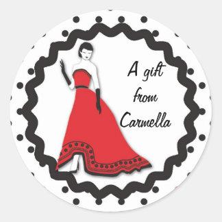 Classic Senorita in Red Sticker