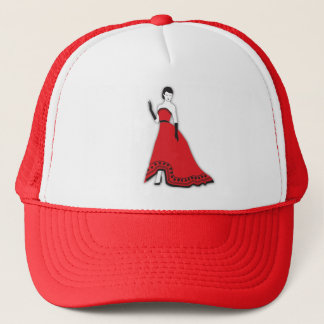 Classic Senorita in Red Trucker Hat