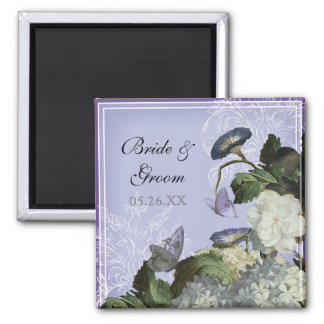 Classic Shells Black Wedding Save the Date Magnet