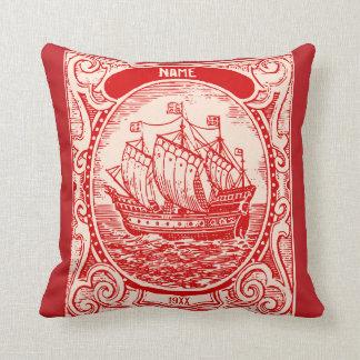 Classic Ship Antique Vintage Naval Sea Adventure Throw Pillows