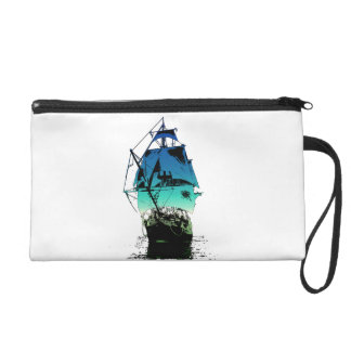 Classic Ship Wristlet Clutches
