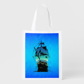 Classic Ship Reusable Grocery Bags