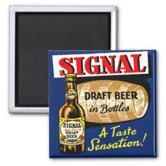 Classic Signal Draft Beer Fridge Magnet