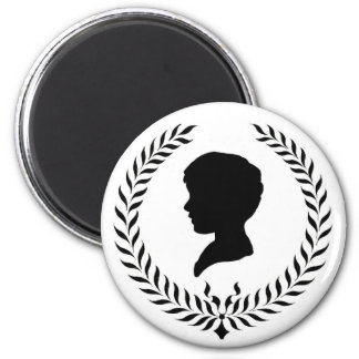 Classic Silhouette 2 Inch Round Magnet
