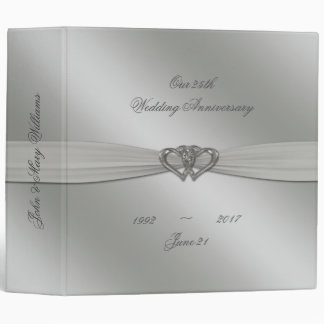 "Classic Silver 25th Wedding Anniversary 2"" Binder"